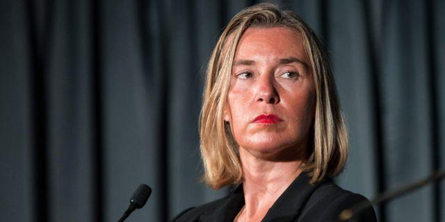 EU:s utrikeschef Federica Mogherini. MARTIN OUELLET-DIOTTE / AFP