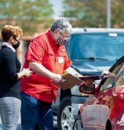 Curbside voting i Virginia Mike Morones / TT NYHETSBYRÅN