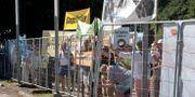 Protester när det första spadtaget av Västlänken togs. Thomas Johansson/TT / TT NYHETSBYRÅN