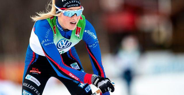 Frida Karlsson vid en tidigare tävling.  JOHAN AXELSSON / BILDBYR N