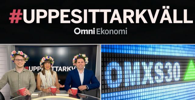 Albin Kjellberg, Sandra Johansson och Nicklas Andersson leder #Uppesittarkväll.  Omni Ekonomi / Shutterstock