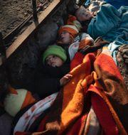 Barn från Syrien nära gränsen mot Grekland//Ursula von der Leyen TT
