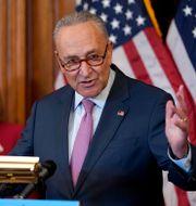 Senatens minoritetsledare Chuck Schumer. Jacquelyn Martin / TT NYHETSBYRÅN