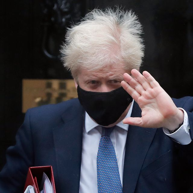 Britain's Prime Minister Boris Johnson leaves Downing Street to attend the weekly session of Prime Ministers Questions at Parliament in London, Wednesday, Oct. 21, 2020. Frank Augstein / TT NYHETSBYRÅN