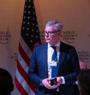 Börje Ekholm I Davos där han bland annat träffade president Donald Trump  JONATHAN ERNST / TT NYHETSBYRÅN