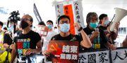 Demonstrationer mot Kinas inflytande i Hongkong. Vincent Yu / TT NYHETSBYRÅN