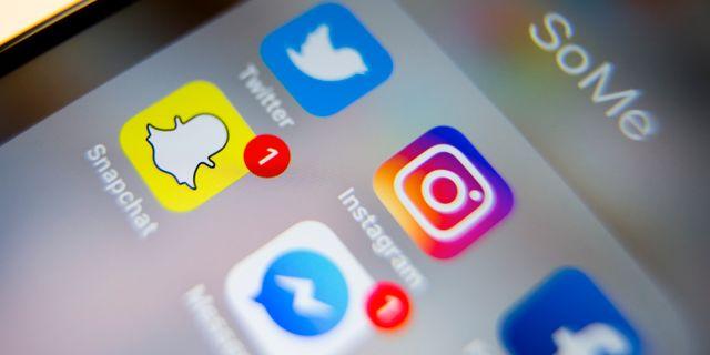 Sociala medier-appar. Arkivbild.  Larsen, Håkon Mosvold / TT NYHETSBYRÅN