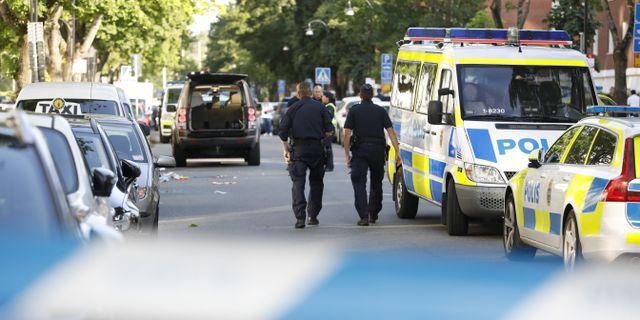 Bild från skottlossningen i Sollentuna. Christine Olsson/TT / TT NYHETSBYRÅN
