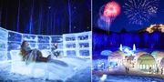 Tomamu är en liten turiststad helt byggd av is. Hoshino Resorts TOMAMU
