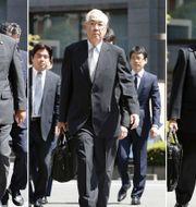 Tsunehisa Katsumata, Sakae Muto och Ichiro Takekuro. Satoru Yonemaru / TT NYHETSBYRÅN