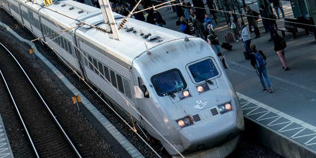 X2000-tåg på Lund C Johan Nilsson/TT / TT NYHETSBYRÅN