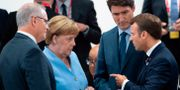 Angela Merkel och Emmanuel Macron under G20-mötet. ELIOT BLONDET / POOL
