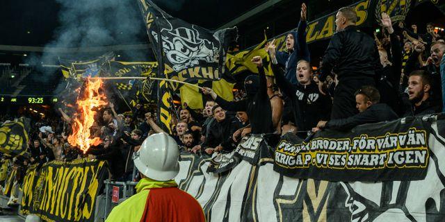 AIK-fans vid kvalspelet till Champions League. JESPER ZERMAN / BILDBYRÅN