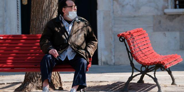Man i Venedig. MANUEL SILVESTRI / TT NYHETSBYRÅN