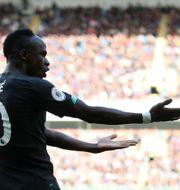 Sadio Mané firar sitt 2–0-mål. CARL RECINE / TT NYHETSBYRÅN