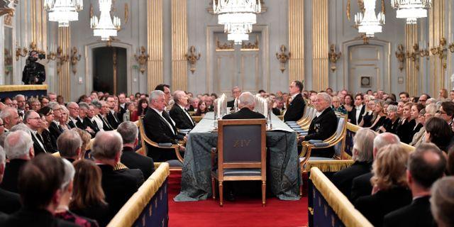 Svenska Akademiens årliga högtidssammankomst i Stora börssalen i december förra året.  Henrik Montgomery/TT / TT NYHETSBYRÅN