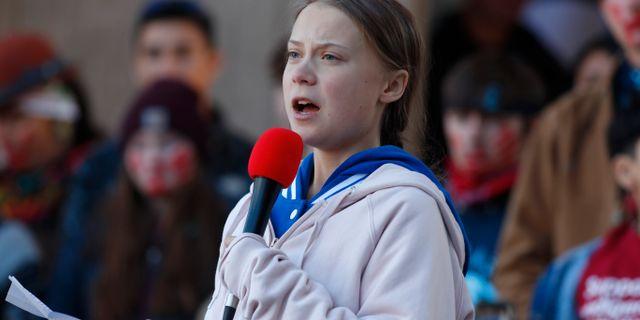 Greta Thunberg. David Zalubowski / TT NYHETSBYRÅN