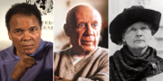 Muhammed Ali, Pablo Picasso och Marie Curie.  AP.