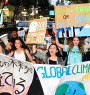 Klimatprotester i Nagoya, Japan, 2019. âúìcóLàÍ / TT NYHETSBYRÅN