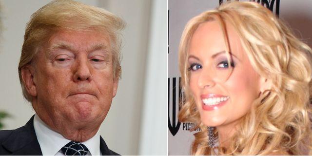 Donald Trump och Stephanie Clifford. TT