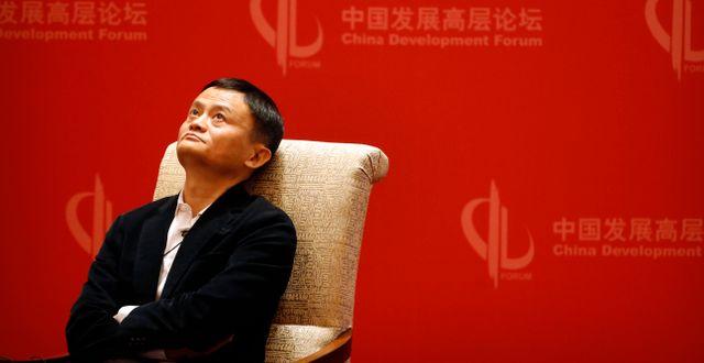 Arkivbild: Alibabagrundaren Jack Ma.  Mark Schiefelbein / TT NYHETSBYRÅN