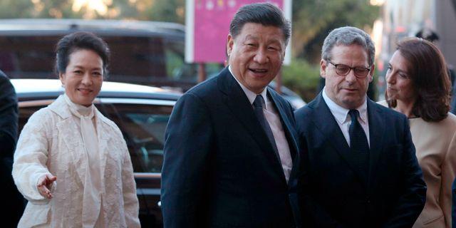 Xi Jinping med hustrun Peng Liyuan.  Igor Petyx / TT NYHETSBYRÅN/ NTB Scanpix