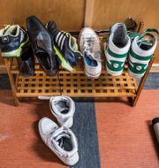 Skor i hallen på ett HVB-hem i södra Stockholm. Tomas Oneborg/SvD/TT / TT NYHETSBYRÅN