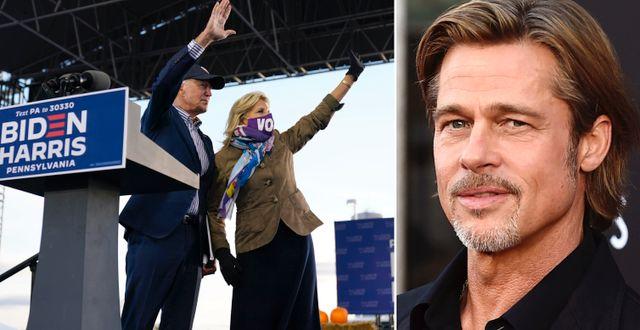 Joe och Jill Biden/Brad Pitt. TT
