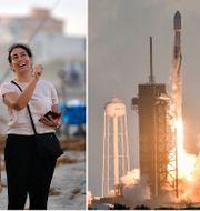 Familjen Zambrana tittar på Space X-raketen som skjuter upp kommunikationssatelliter, 6 oktober 2020.  Craig Bailey/AP