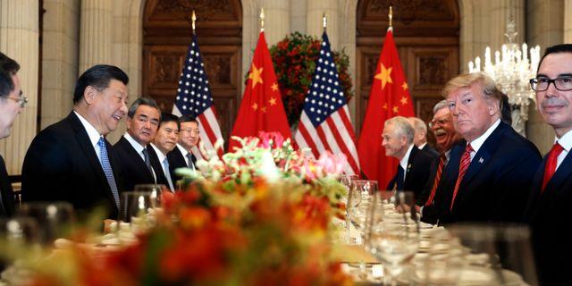 Arkivbild: Xi Jinping och Donald Trump. Pablo Martinez Monsivais / TT NYHETSBYRÅN/ NTB Scanpix