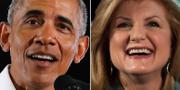 Barack Obama och Arianna Huffington TT