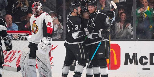 En av de sista matcherna innan NHL stängde ned/Arkivbild. Mark J. Terrill / TT NYHETSBYRÅN