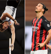 Elin Cederros, Armand Duplantis och Zlatan Ibrahimovic. TT