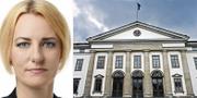 Erika Ullberg och landstingshuset på Kungsholmen i Stockholm. Socialdemokraterna/TT