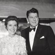 Attending the west coast Hollywood premiere are the black tie affair was held at Grauman's Chinese Theatre on Dec. 19, 1969. Arriving for film premiere are Gov. Ronald Reagan, and wife Nancy. David F. Smith / TT NYHETSBYRÅN