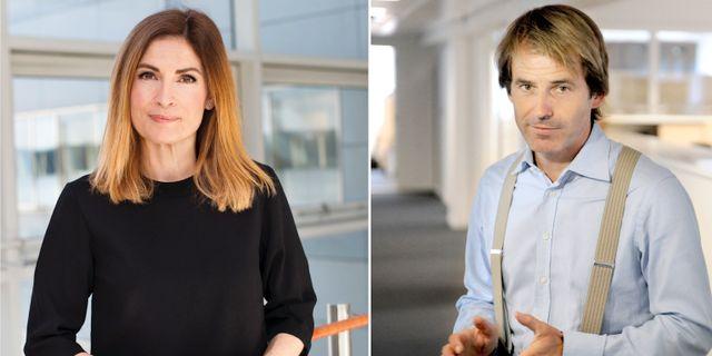 Länsförsäkringars privatekonom Emma Persson och sparekonom Claes Hemberg Länsförsäkringar och Erik Mårtensson/TT