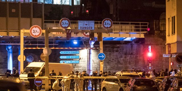 Avspärrningar efter dådet i Strasbourg.  Jean-Francois Badias / TT NYHETSBYRÅN
