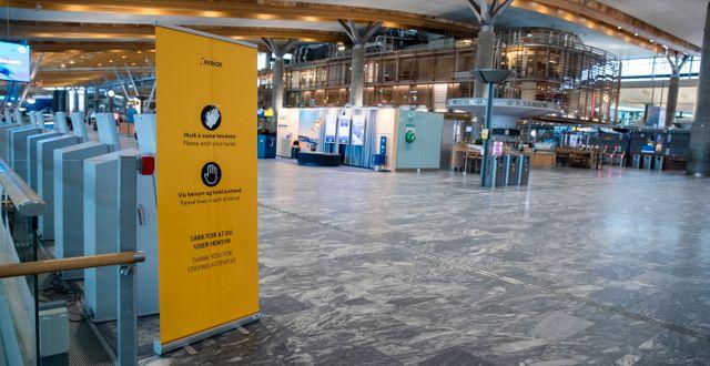 Flygplatsen Gardermoen.  Terje Pedersen / TT NYHETSBYRÅN