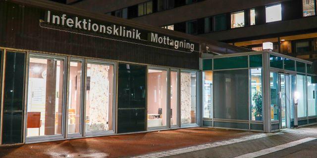 Infektionsklinik i Göteborg.  Thomas Johansson/TT / TT NYHETSBYRÅN