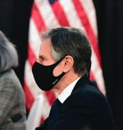Kinas utrikeschef Yang Jiechi och USA:s utrikesminister Antony Blinken under mötet. TT