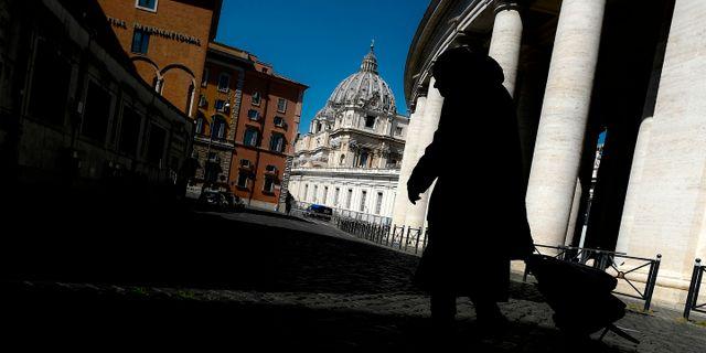 Vatikanen ligger öde. FILIPPO MONTEFORTE / TT NYHETSBYRÅN