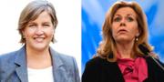 Karin Karsbro, Cecilia Wikström.  Pressbild/TT