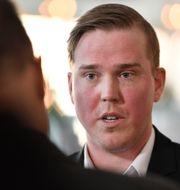 Jeff Ahl, 31, ansluter sig till det nybildade Alternativ för Sverige.  Erik Simander/TT / TT NYHETSBYRÅN