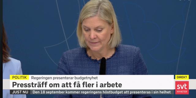 Magdalena Andersson (S) SVT
