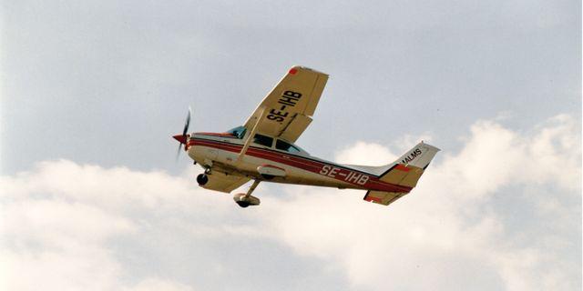 Arkivbild på mindre flygplan, dock inte av den modell som byggdes om till elflyg i Kanada.  Hans T Dahlskog / TT NYHETSBYRÅN