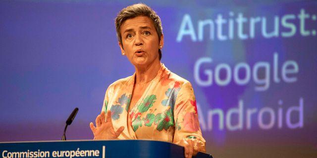 EU:s konkurrenskommissionär Margrethe Vestager Olivier Matthys / TT NYHETSBYRÅN/ NTB Scanpix