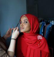 Halima Aden.  Lefteris Pitarakis / TT NYHETSBYRÅN