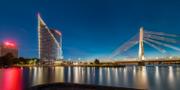 Arkivbild: Swedbanks huvudkontor i Riga.  Merko.