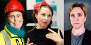 """Carin Stoeckmann, ägare och vd för Byggmästarn i Skåne, Carolina """"Lina"""" Gebäck på företaget Linas Matkasse och Maria Mattsson Mähl, grundare av AlphaCE."""