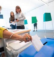 Bild från EU-valet när människor röstade. Arkivbild. Johan Nilsson/TT / TT NYHETSBYRÅN